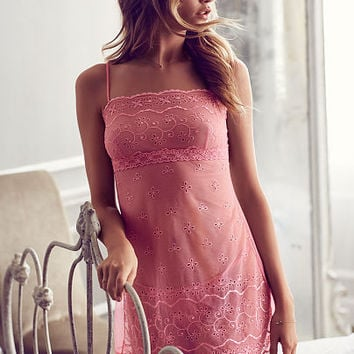 Embroidered Eyelet Babydoll - Dream Angels - Victoria's Secret