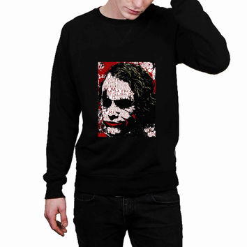 Batman joker typhography quote 85909434-f237-4fc0-9598-fdc60e50a479 - Sweater for Man and Woman, S / M / L / XL / 2XL *02*