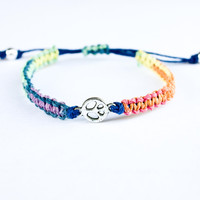 Rainbow Peace Hemp Friendship Bracelet
