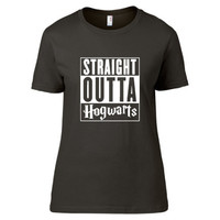 Harry Potter Inspired Clothing - Straight Outta Hogwarts Crew Neck - Ladies