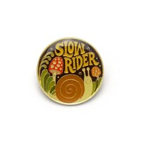 """Slow Rider"" Enamel Pin"