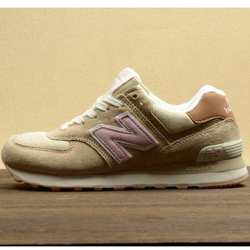 DCCK1IN new balance leisure shoes running shoes men s shoes for women s shoes couples n word light khaki
