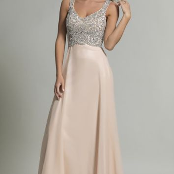 Beaded Long Gown by Dave and Johnny