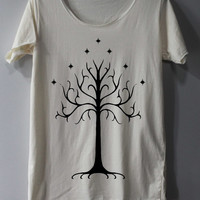 White Tree of Gondor Shirt The Lord of The Rings Shirts The Rise of Mordor Shirts TShirt T Shirt Tee Shirts - Size S M L