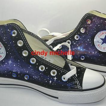 custom converse galaxy converse sneakers hand painted on converse shoes great gift