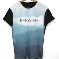 Breathe Black All Over T Shirt