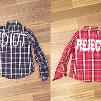 Idiot/Reject Flannel