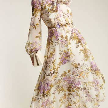 Felche Fiori-print silk-georgette dress | Giambattista Valli | MATCHESFASHION.COM US