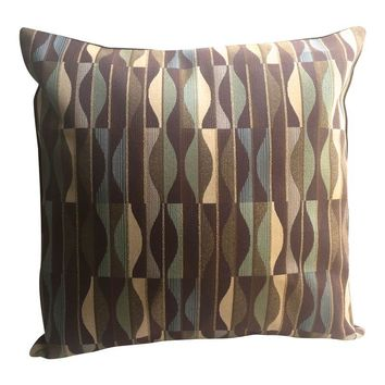Pre-owned Designer Mid-Century Modern Fabric Pillow