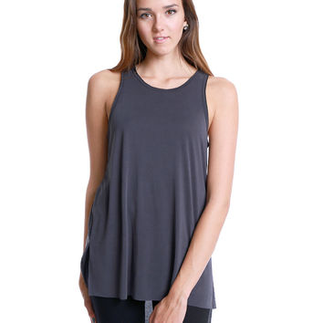 Join Me Tank Top - Charcoal Gray