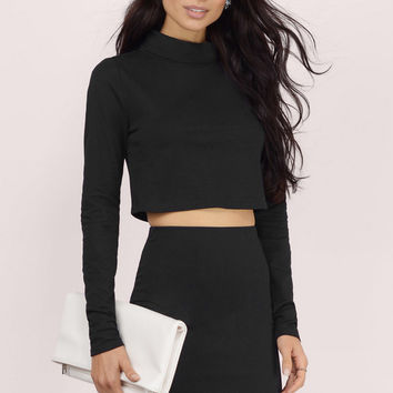 Turtleneck Blush Two Piece Skirt