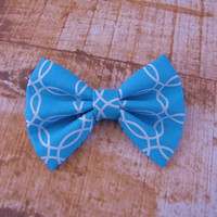 Blue and White Bow Clip Headband Hair Accessories Baby Toddler Adult