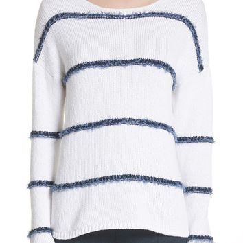 St. John Collection Dropped Stripe Knit Sweater | Nordstrom