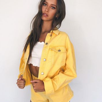 Buy Our Jesse Jacket in Yellow Online Today! - Tiger Mist