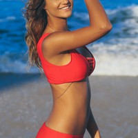 Classic Everyday Swim Bottoms Red