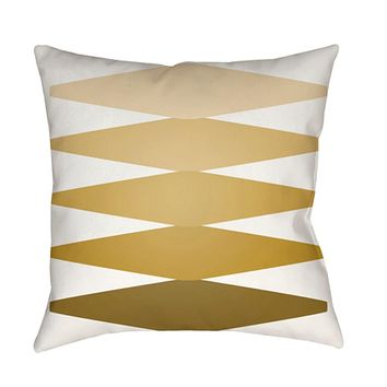 Moderne Pillow Cover - Mustard, Olive, White, Lime, Bright Yellow - MD014