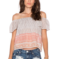 Eternal Sunshine Creations Flower Bazzar Tube Top in Cloudy Coral