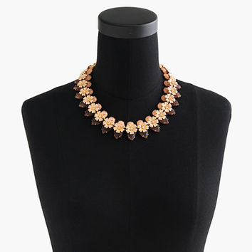 Stacked floral necklace