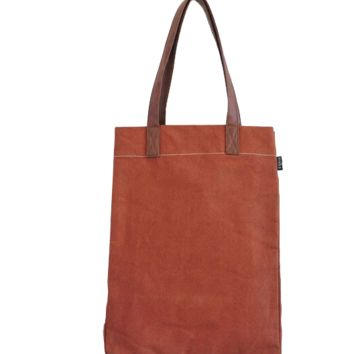Waxed Camel Canvas Market Tote