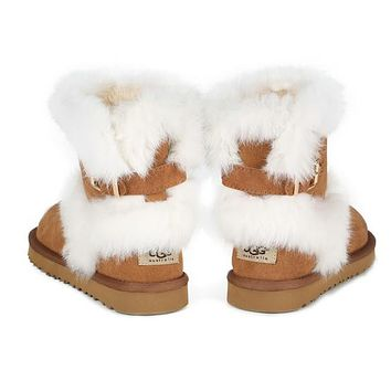 UGG Fashion Women Fur Wool Snow Boots Shoes