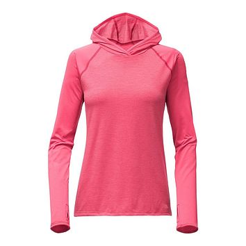 Women's Reactor Hoodie in Honeysuckle Pink Heather by The North Face