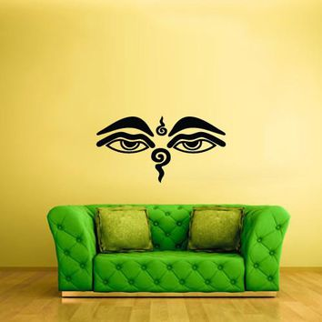 Wall Vinyl Decal Sticker Bedroom Decal Wall Decal Symbol Buddha Eye  z290