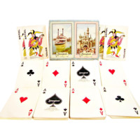 Double Deck of Early Disneyland Playing Cards with Iconic Disney Features