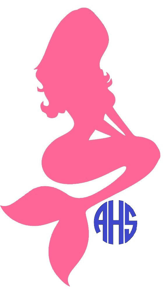 Monogram mermaid decal mermaid monogram from astitchofhappiness