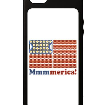 American Breakfast Flag - Bacon and Eggs - Mmmmerica iPhone 5C Grip Case  by TooLoud