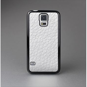 The White Leather Texture Skin-Sert Case for the Samsung Galaxy S5
