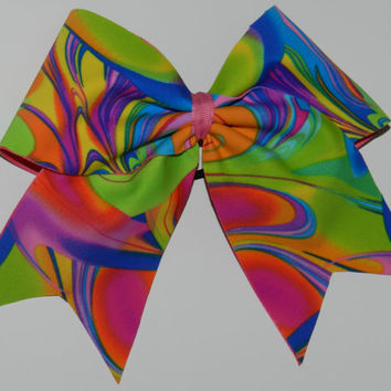 Texas Size Cheer Bow  3 inch base by ABCBows on Etsy