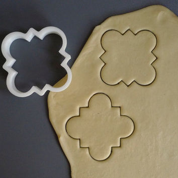 Moroccan style plaque cookie cutter by Printmeneer on Etsy