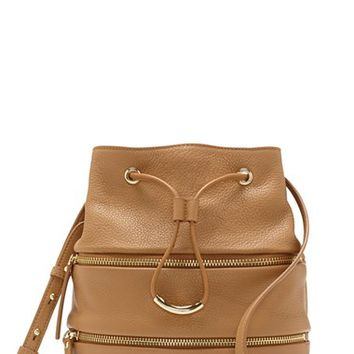 Vince Camuto 'Meg' Pebbled Leather Bucket Bag