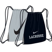 Nike Lacrosse Home and Away Gymsack Sackpack, BLACK/SILVER