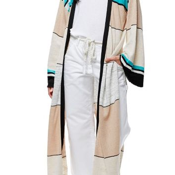 Free People Long Stripe Cardigan | Nordstrom