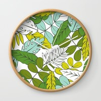 Modern Tropics Wall Clock by Heather Dutton
