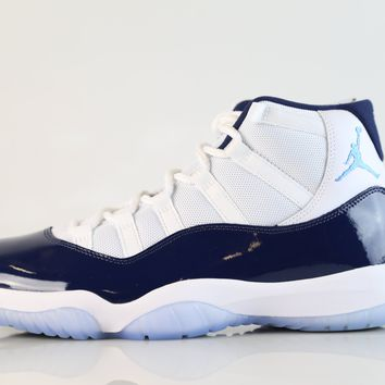 BC DCCK Nike Air Jordan Retro 11 UNC White Midnight Navy University Blue 378037-123 Adult and GS (NO Codes)