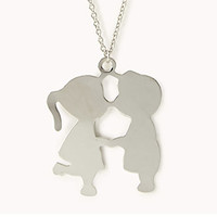 Kissing Couple Necklace