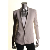 Helmut Lang Womens Knit Long Sleeves One-Button Blazer