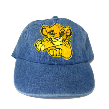 Vintage Culture Simba Patched Dad Hat In Denim