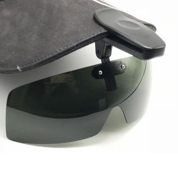 Polarized Fishing Glasses Hat Visors Sport Clips Cap Clip on Sunglasses For Fishing Biking Hiking Golf Eyewear UV400