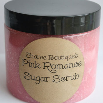 Pink Romance Sugar Scrub  Large 16oz Jar  Loaded by ShareeBoutique