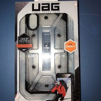 Urban Armor Gear UAG Plasma Apple iPhone X Rugged Military Drop Tested Case-Ice