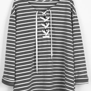 Cupshe Tie Everything Stripe Casual Top