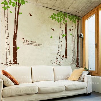 Tree wall decor decals