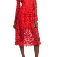ASTR the Label Lace Midi Dress | Nordstrom