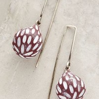 Fig Drops by Jibby and Juna Brown Motif One Size Earrings