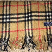 Sale!! Vintage BURBERRYS London Classic Plaid nova check lambswool scarf BURBERRY wraps scarves Made in England