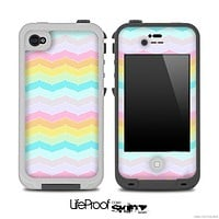 Fun Chevron Color Pattern Skin for the iPhone 5 or 4/4s LifeProof Case