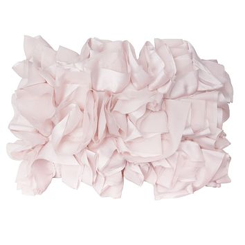 The Soft Pink Ruffled Pillow